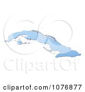 Gradient Blue Cuba Mercator Projection Map by Jiri Moucka