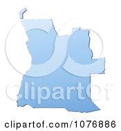 Gradient Blue Angola Mercator Projection Map by Jiri Moucka