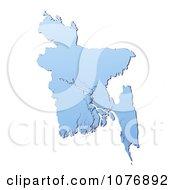 Gradient Blue Bangladesh Mercator Projection Map by Jiri Moucka