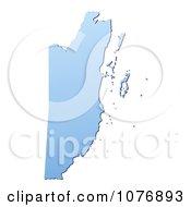 Gradient Blue Belize Mercator Projection Map by Jiri Moucka