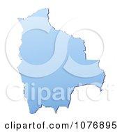 Gradient Blue Bolivia Mercator Projection Map by Jiri Moucka