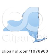 Clipart Gradient Blue New York United States Mercator Projection Map Royalty Free CGI Illustration