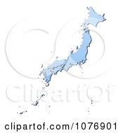 Gradient Blue Japan Mercator Projection Map by Jiri Moucka