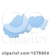 Gradient Blue Slovakia Mercator Projection Map by Jiri Moucka