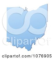 Clipart Gradient Blue Ohio United States Mercator Projection Map Royalty Free CGI Illustration