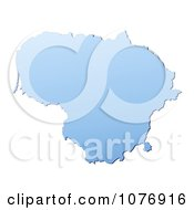 Clipart Gradient Blue Lithuania Mercator Projection Map Royalty Free CGI Illustration