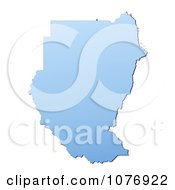 Gradient Blue Sudan Mercator Projection Map by Jiri Moucka