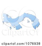 Gradient Blue Panama Mercator Projection Map by Jiri Moucka