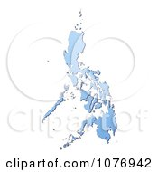 Gradient Blue Philippines Mercator Projection Map by Jiri Moucka