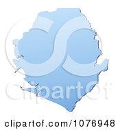 Gradient Blue Sierra Leone Mercator Projection Map by Jiri Moucka