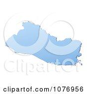 Gradient Blue El Salvador Mercator Projection Map by Jiri Moucka