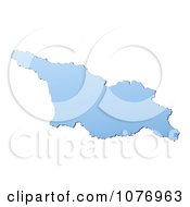 Clipart Gradient Blue Georgia Mercator Projection Map Royalty Free CGI Illustration
