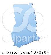 Gradient Blue Ghana Mercator Projection Map by Jiri Moucka