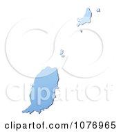 Gradient Blue Grenada Mercator Projection Map by Jiri Moucka