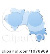 Clipart Gradient Blue Guinea Mercator Projection Map Royalty Free CGI Illustration by Jiri Moucka
