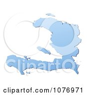 Clipart Gradient Blue Haiti Mercator Projection Map Royalty Free CGI Illustration by Jiri Moucka
