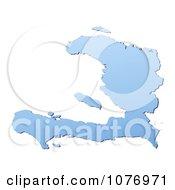 Gradient Blue Haiti Mercator Projection Map