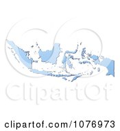 Gradient Blue Indonesia Mercator Projection Map by Jiri Moucka