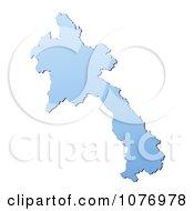 Gradient Blue Laos Mercator Projection Map by Jiri Moucka