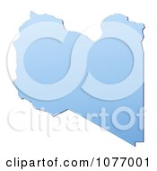 Clipart Gradient Blue Libya Mercator Projection Map Royalty Free CGI Illustration by Jiri Moucka