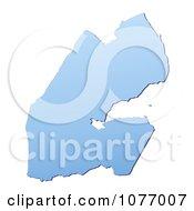 Gradient Blue Djibouti Mercator Projection Map by Jiri Moucka