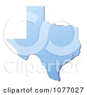 Gradient Blue Texas United States Mercator Projection Map by Jiri Moucka