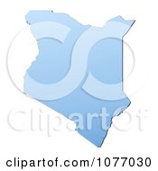 Gradient Blue Kenya Mercator Projection Map by Jiri Moucka