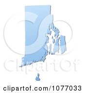 Clipart Gradient Blue Rhode Island United States Mercator Projection Map Royalty Free CGI Illustration