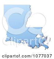 Gradient Blue Louisiana United States Mercator Projection Map by Jiri Moucka