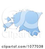 Gradient Blue Estonia Mercator Projection Map by Jiri Moucka