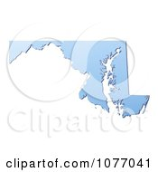 Clipart Gradient Blue Maryland United States Mercator Projection Map Royalty Free CGI Illustration by Jiri Moucka
