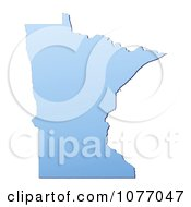 Gradient Blue Minnesota United States Mercator Projection Map