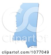 Clipart Gradient Blue Mississippi United States Mercator Projection Map Royalty Free CGI Illustration