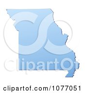 Clipart Gradient Blue Missouri United States Mercator Projection Map Royalty Free CGI Illustration