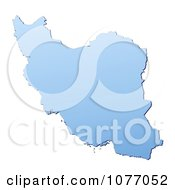 Clipart Gradient Blue Iran Mercator Projection Map Royalty Free CGI Illustration