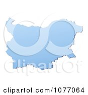 Clipart Gradient Blue Bulgaria Mercator Projection Map Royalty Free CGI Illustration