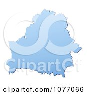 Clipart Gradient Blue Belarus Mercator Projection Map Royalty Free CGI Illustration