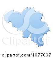 Clipart Gradient Blue Belgium Mercator Projection Map Royalty Free CGI Illustration
