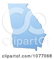 Clipart Gradient Blue Georgia United States Mercator Projection Map Royalty Free CGI Illustration