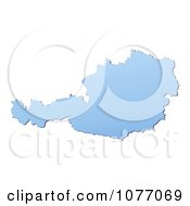 Clipart Gradient Blue Austria Mercator Projection Map Royalty Free CGI Illustration