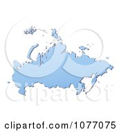 Clipart Gradient Blue Russia Mercator Projection Map Royalty Free CGI Illustration