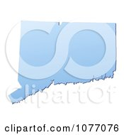 Gradient Blue Connecticut United States Mercator Projection Map