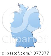 Gradient Blue Germany Mercator Projection Map