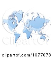 Clipart Gradient Blue World Atlas Mercator Projection Map Royalty Free CGI Illustration by Jiri Moucka