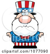 Clipart Mad Uncle Sam Royalty Free Vector Illustration