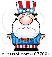 Clipart Sad Uncle Sam Royalty Free Vector Illustration