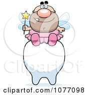 Clipart Male Tooth Fairy Sitting On A Tooth Royalty Free Vector Illustration