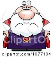 Clipart Sad Bald Wizard Royalty Free Vector Illustration