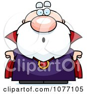 Clipart Shocked Bald Wizard Royalty Free Vector Illustration
