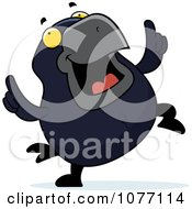 Clipart Crow Doing A Happy Dance Royalty Free Vector Illustration by Cory Thoman